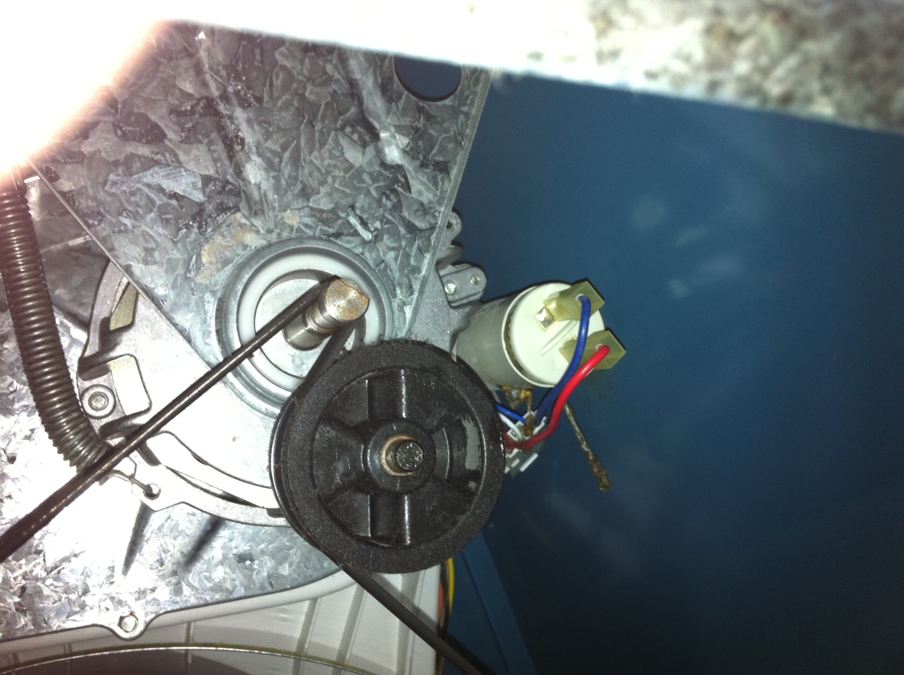 how to change a belt on a westinghouse dryer