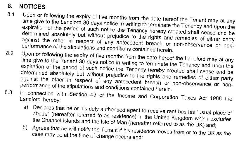 hi i received a letter ending a tenancy agreement I have on