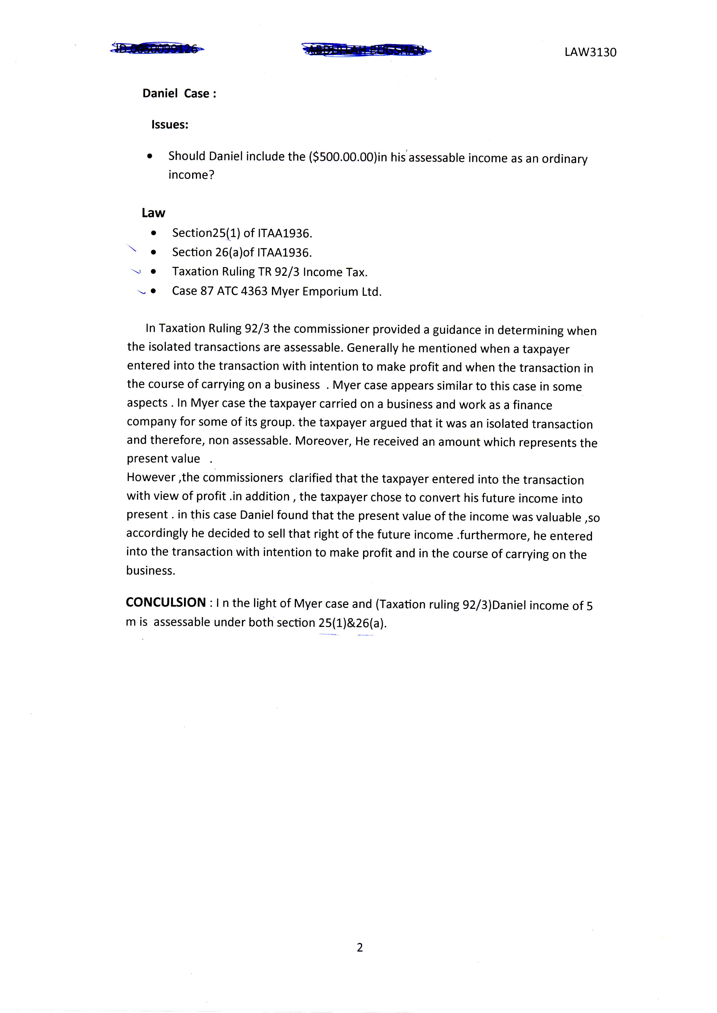 taxation law case study myer s International businesstaxation  astudyintheinternationalization  ofbusinessregulation  solpicciotto  emeritusprofessor,universityoflancaster.
