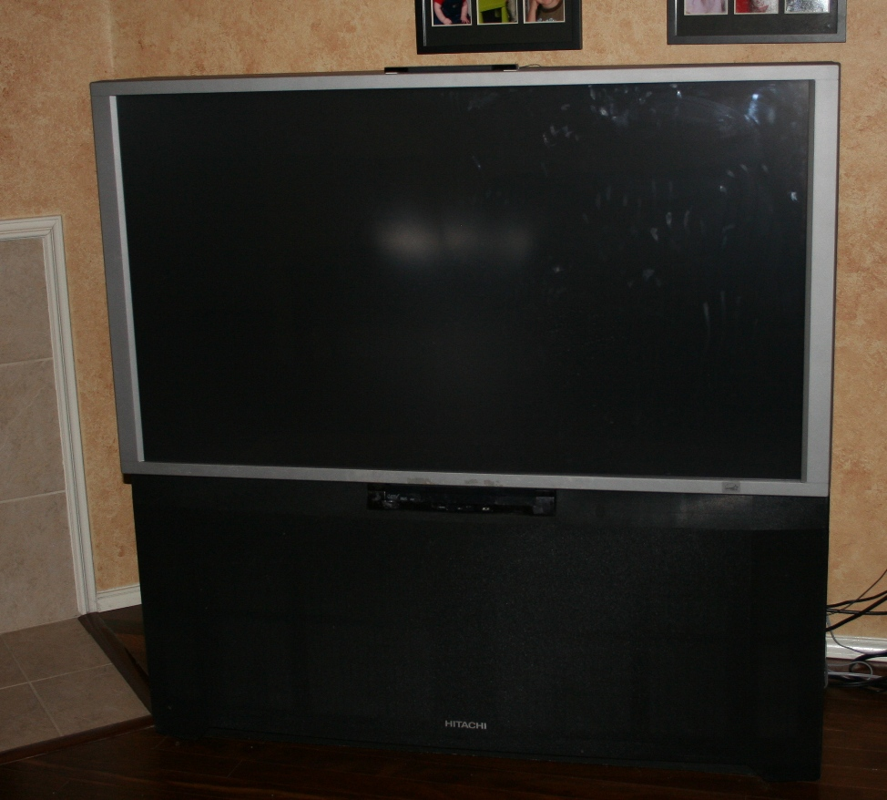 I have a big screen rear-projection hitachi television bought