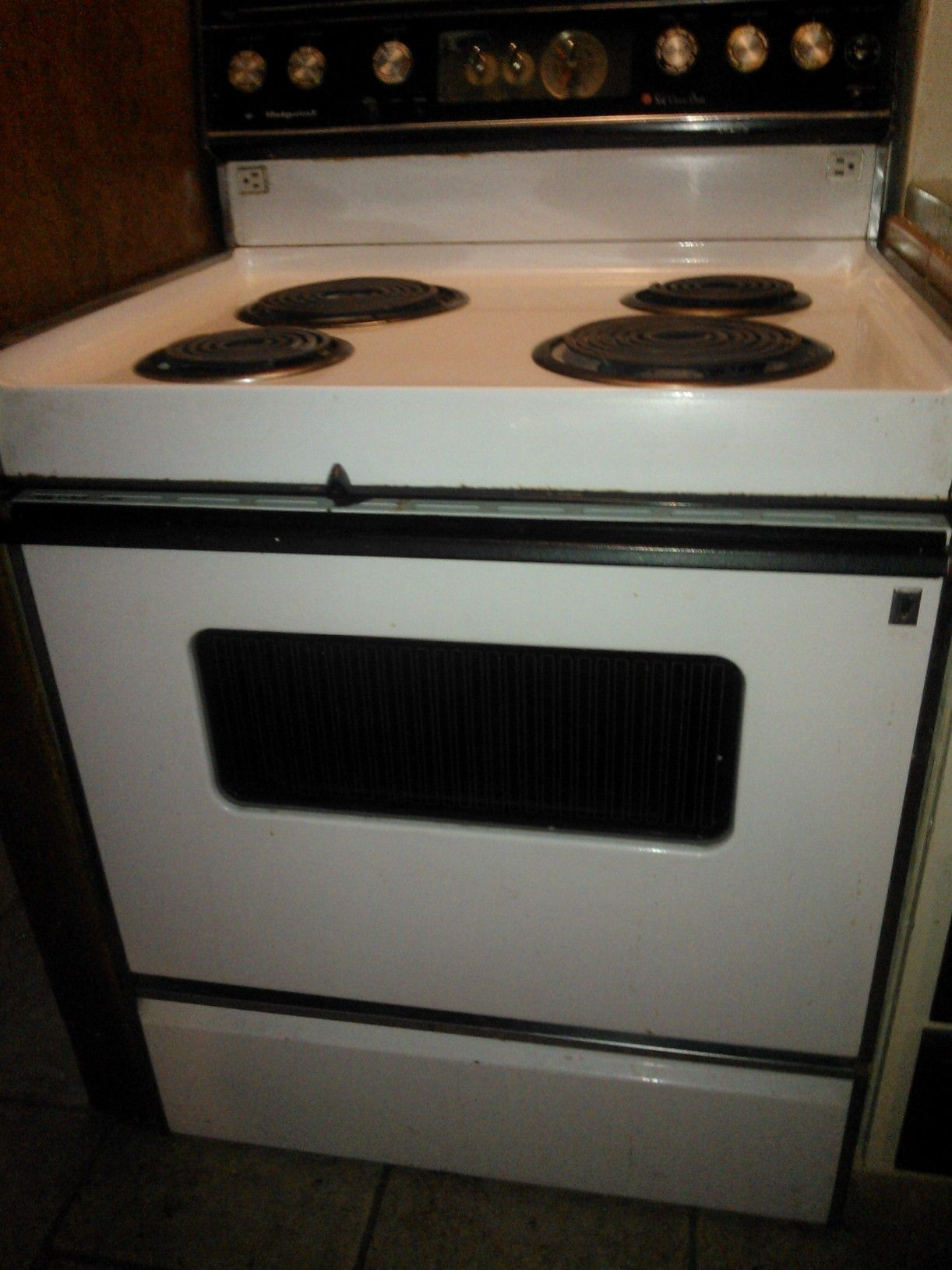 how to clean old electric oven plates