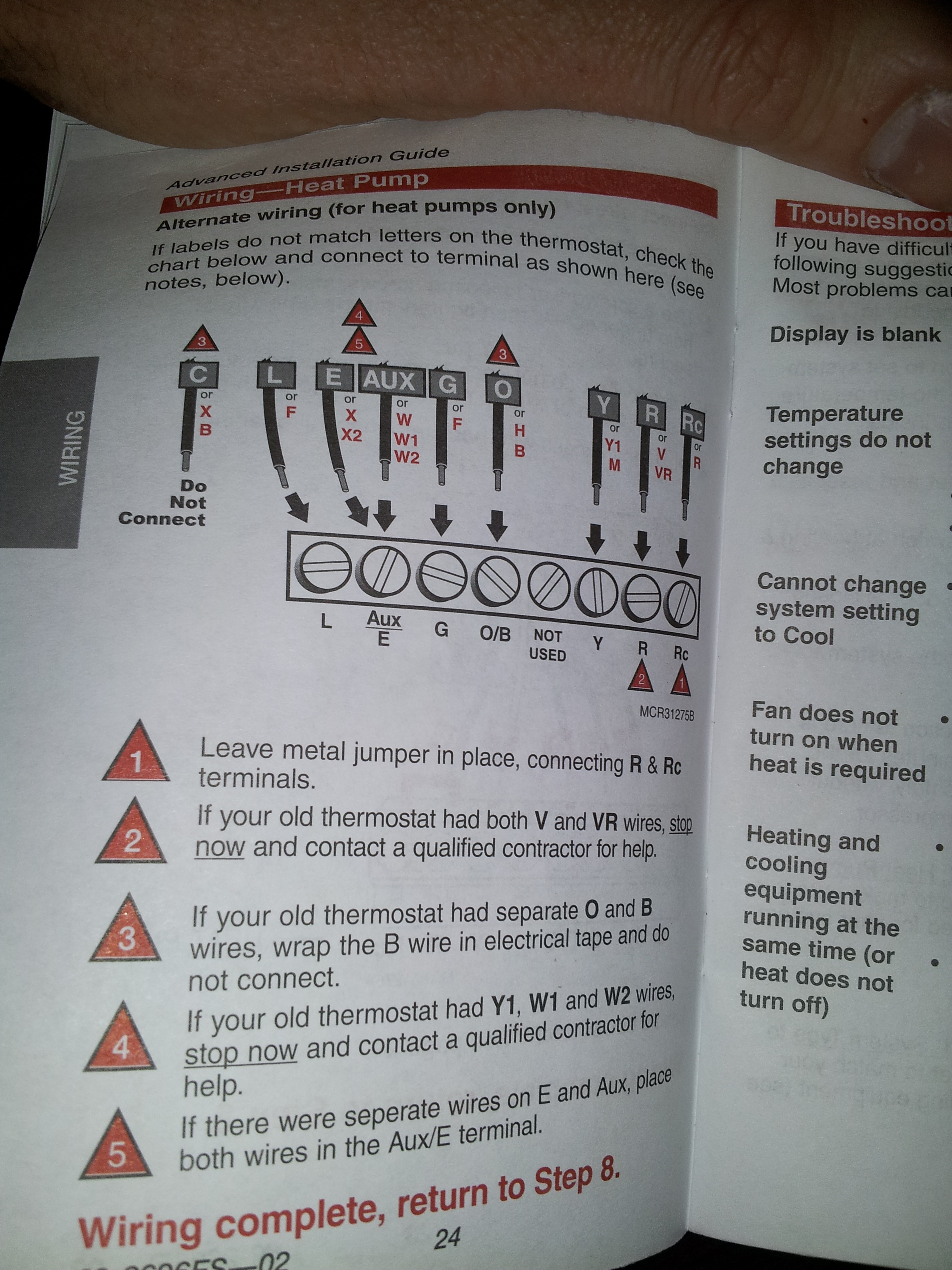 Wiring Diagram For Totaline Thermostat : Hi im installing a honeywell rth the thermostat i am