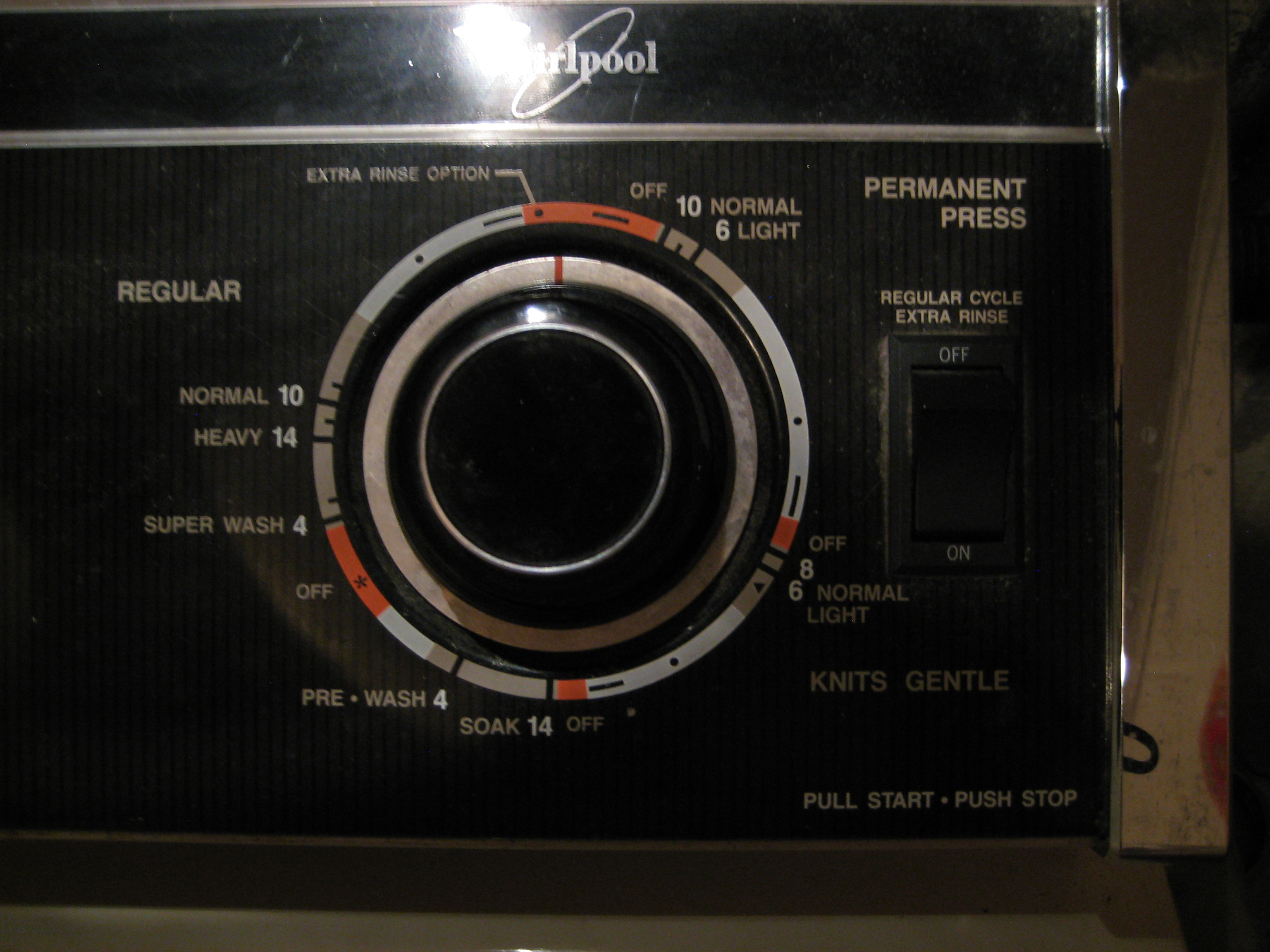 whirlpool washer dial