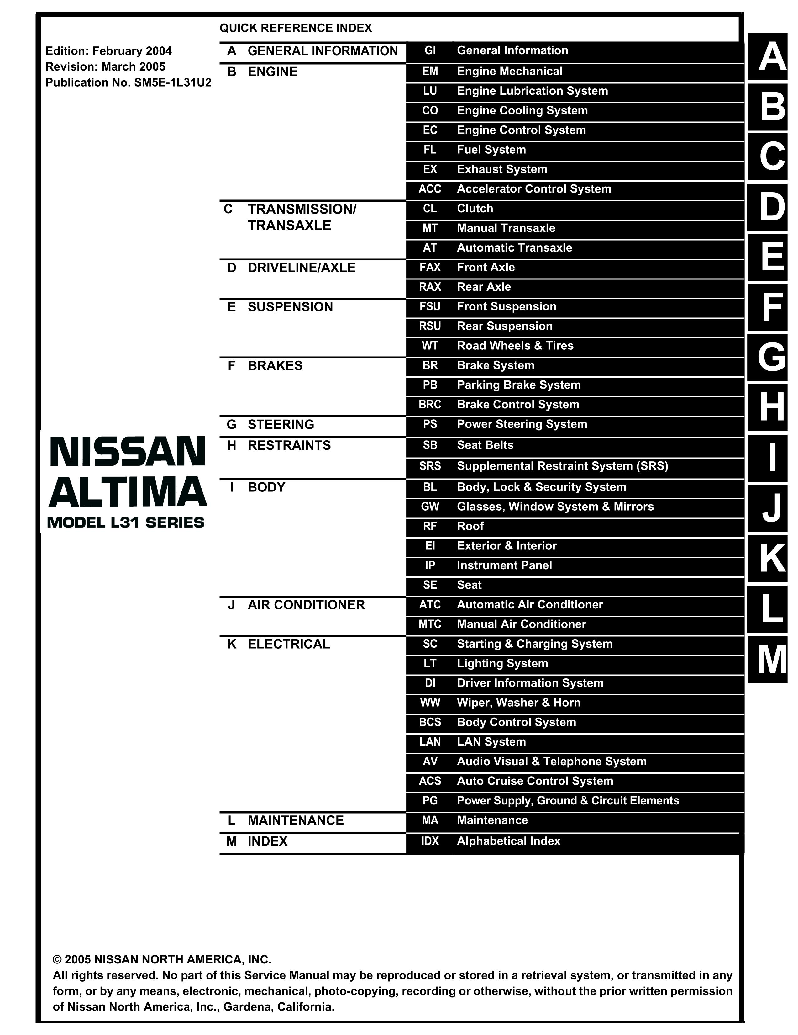 7lri5 05 Altima 2 5 Head Bolt Torque Shop Manual Steps A B on 2003 altima diagram