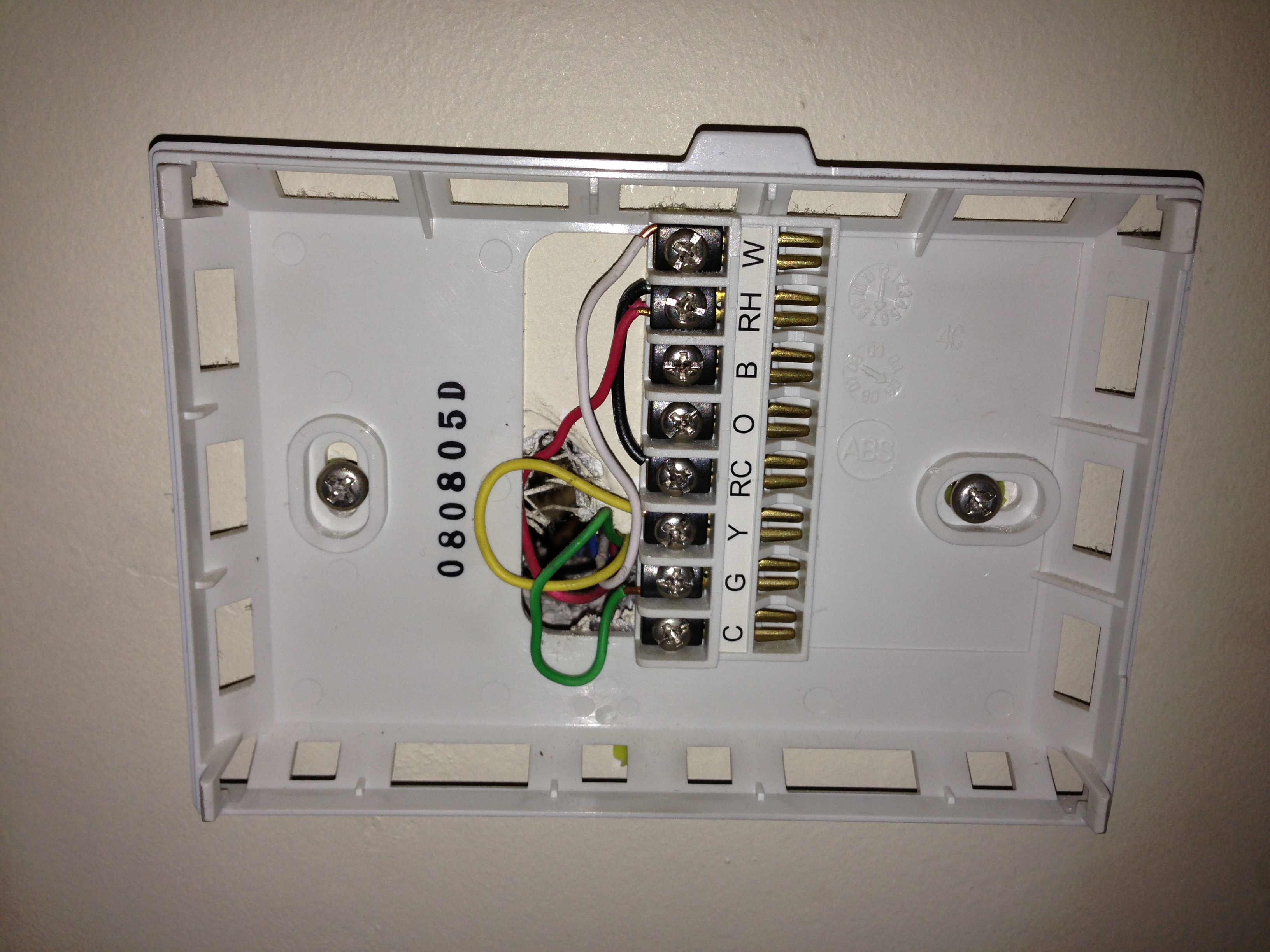 wall thermostat wiring diagram