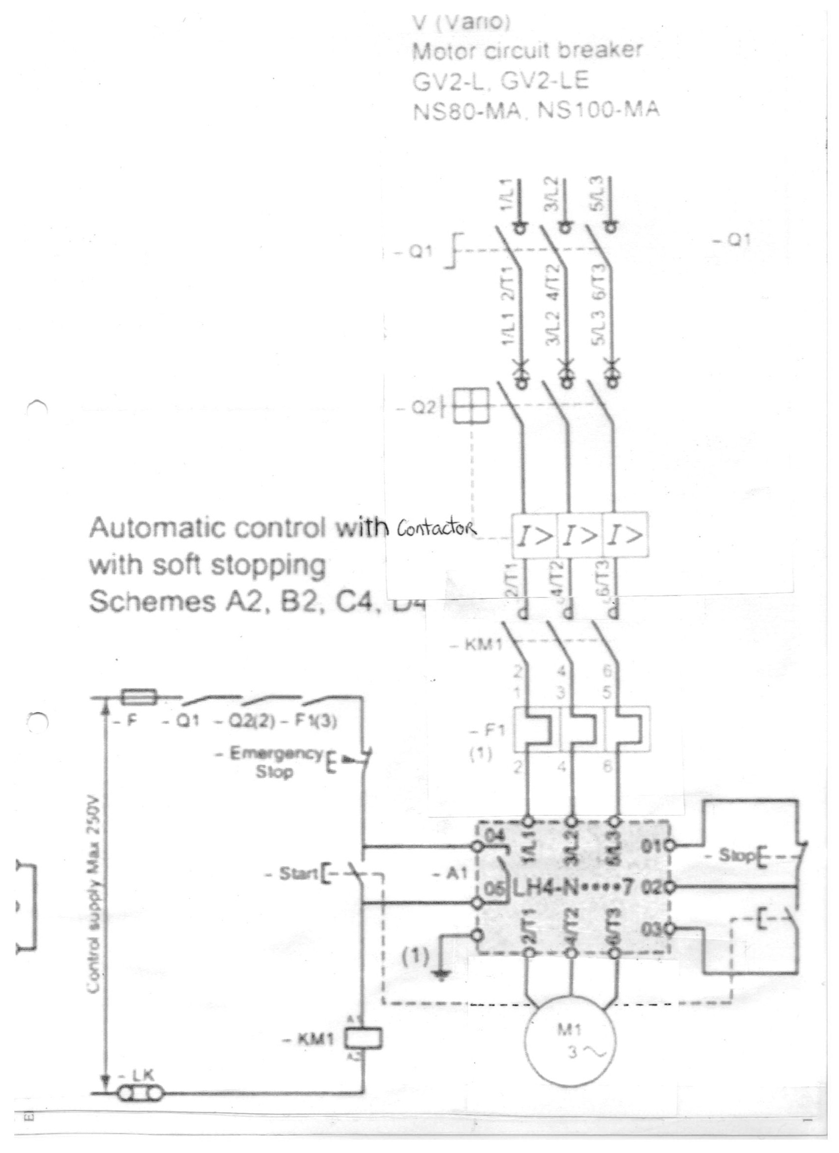 I Have An Electrical Drawing Of A Lh4n212qn7 Soft Start Soft