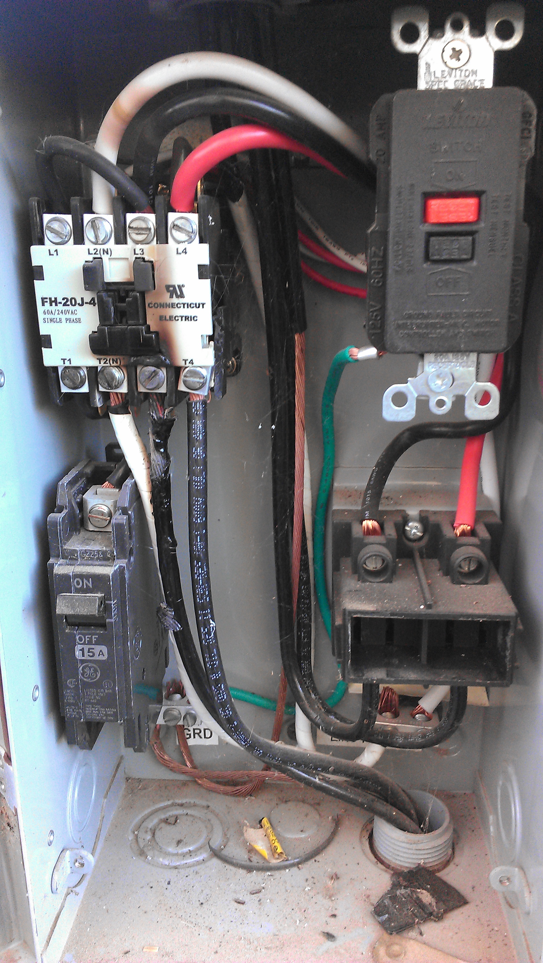 Burnt wire to fuse box