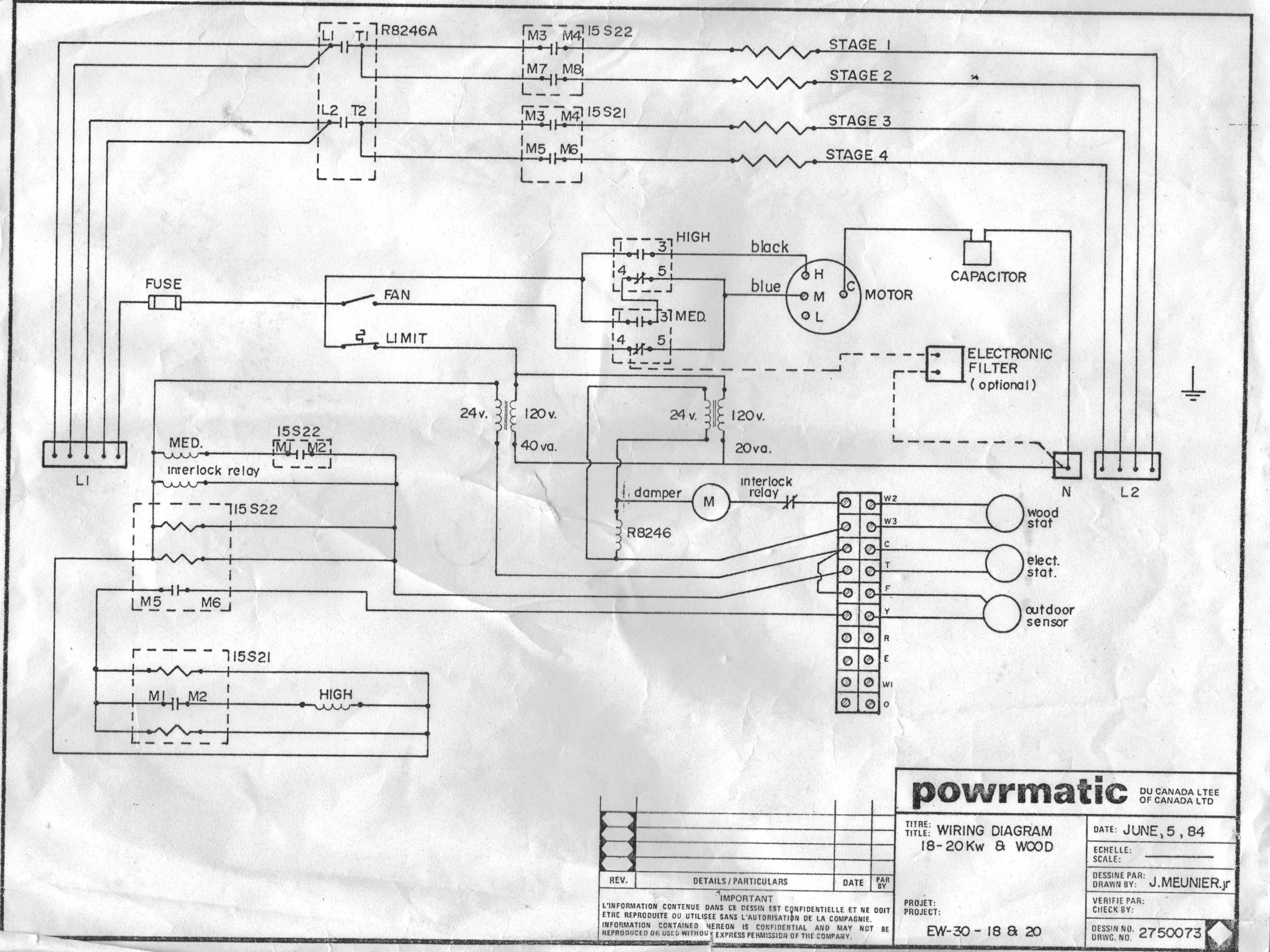 wiring diagram electric furnace the wiring diagram i have a powrmatic furnace combining wood elecririty it wiring diagram