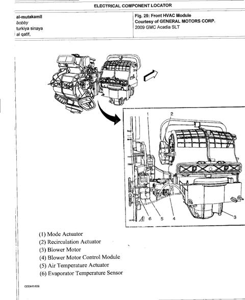 removing the console in a gmc acadia html