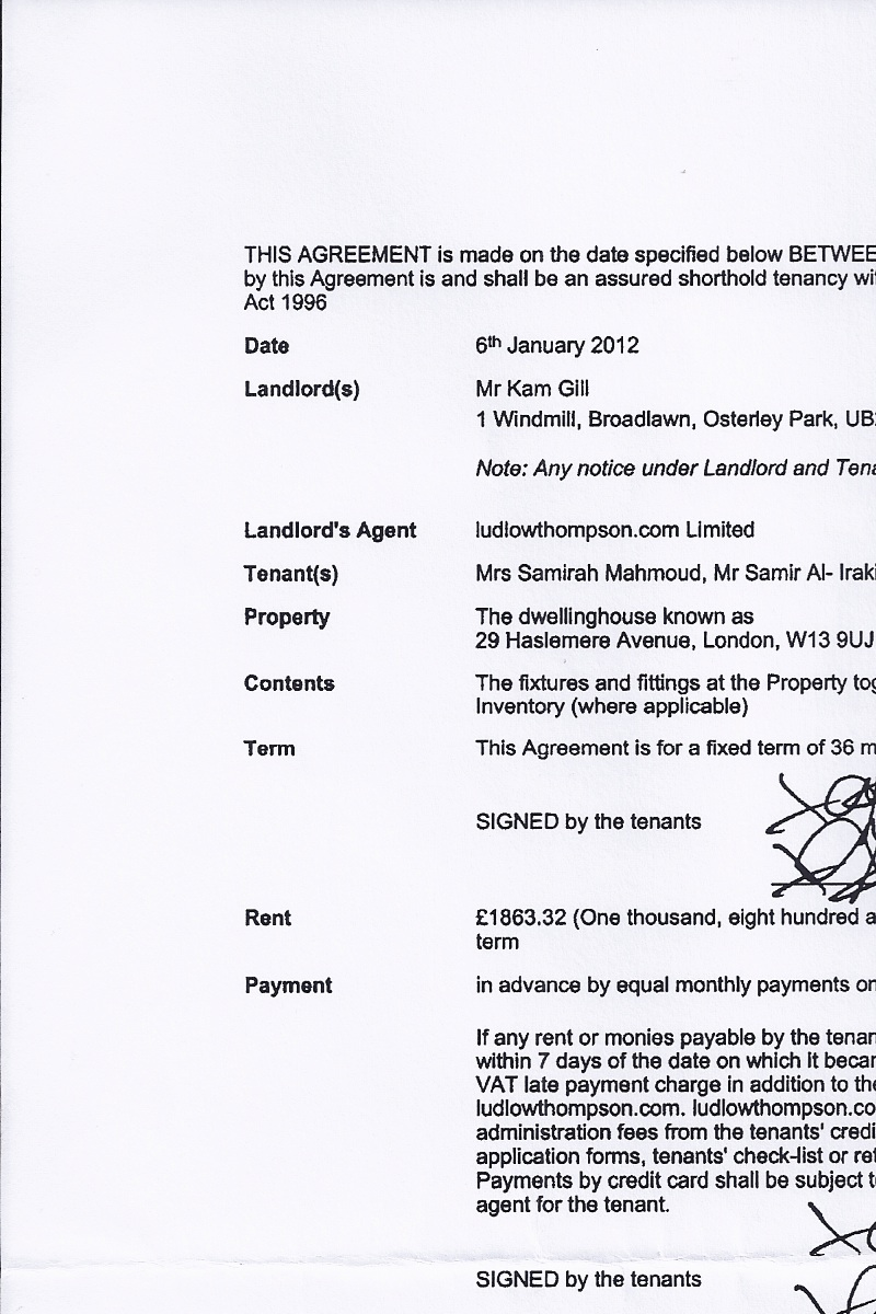 Assured Short Term Tenancy Agreement