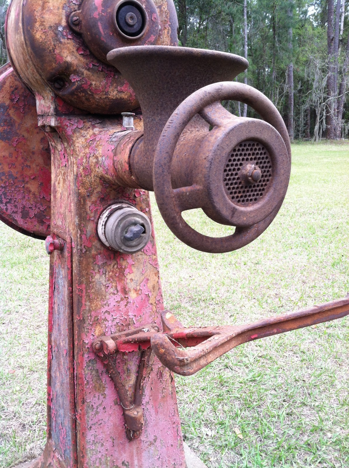 Old Electric Grinder ~ I have a vintage electric hobart meat grinder with stand