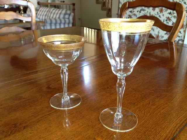 Antique Drinking Glasses With Gold Trim