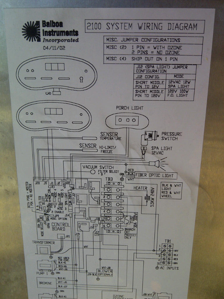 Cal spas wiring diagram