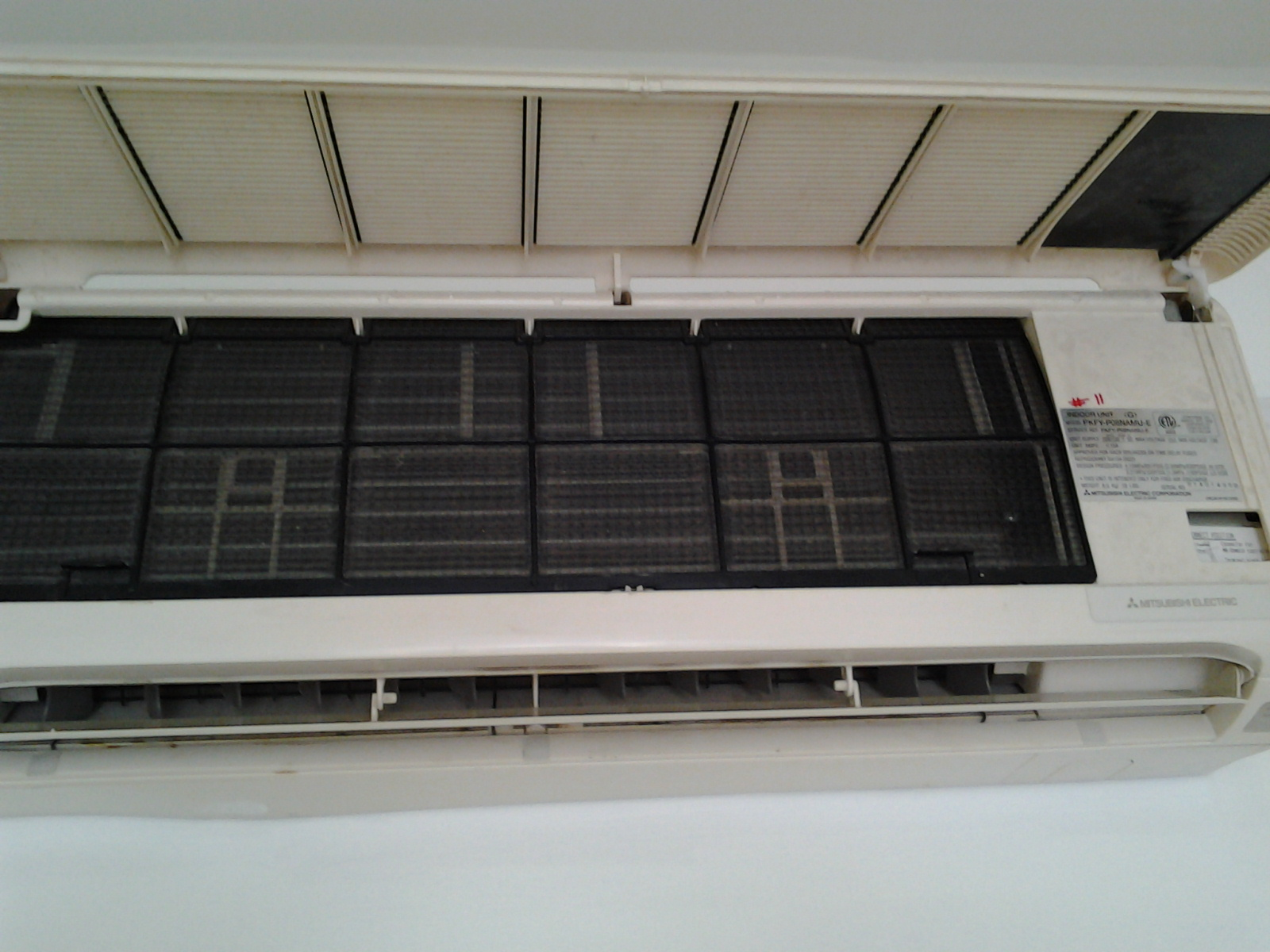 Mitsubishi Ductless split Air conditioner in my office works #68614D