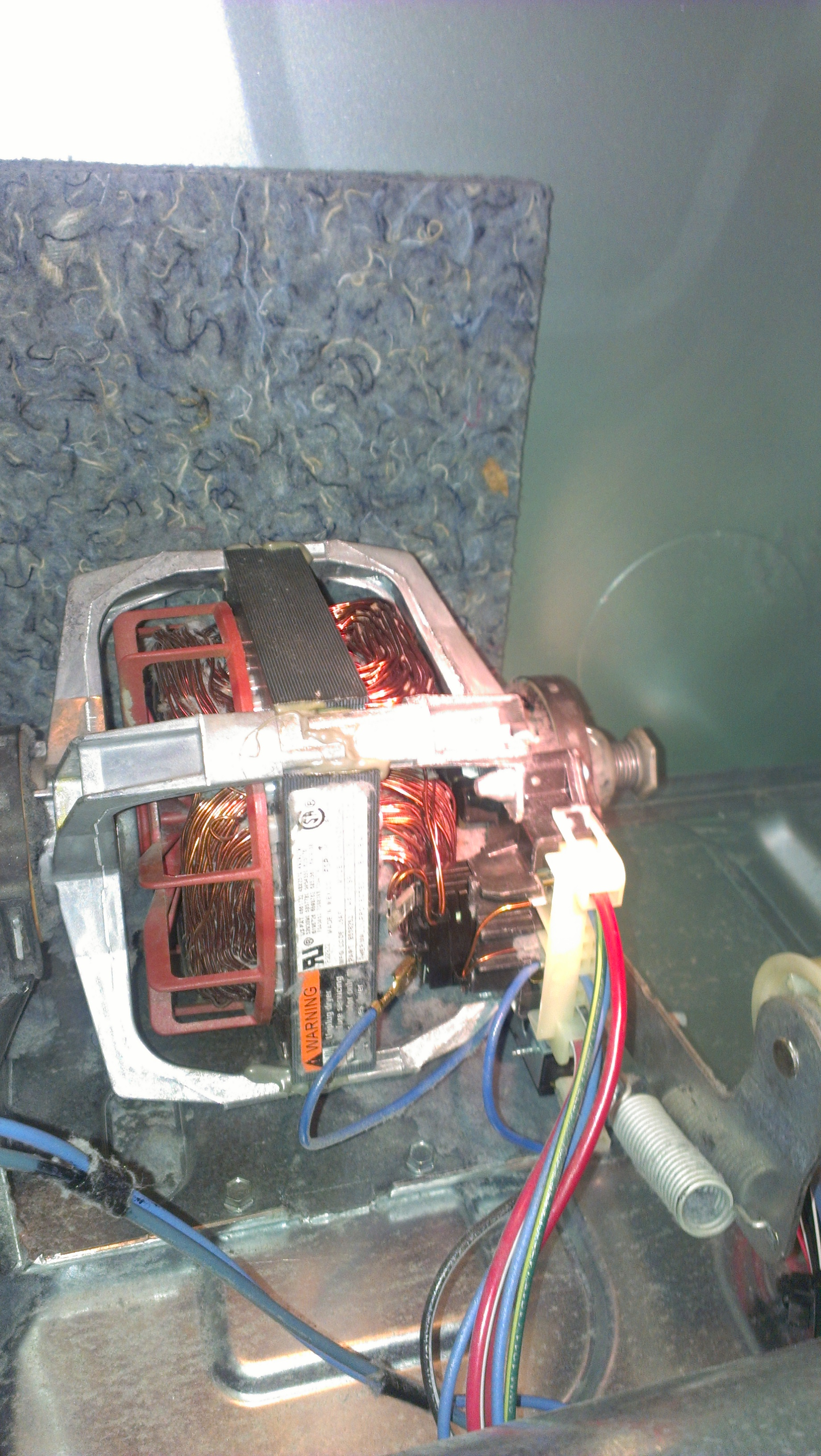 how to get the motor out off the dryer