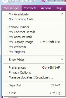 Chat Room Option Missing In Yahoo Messenger
