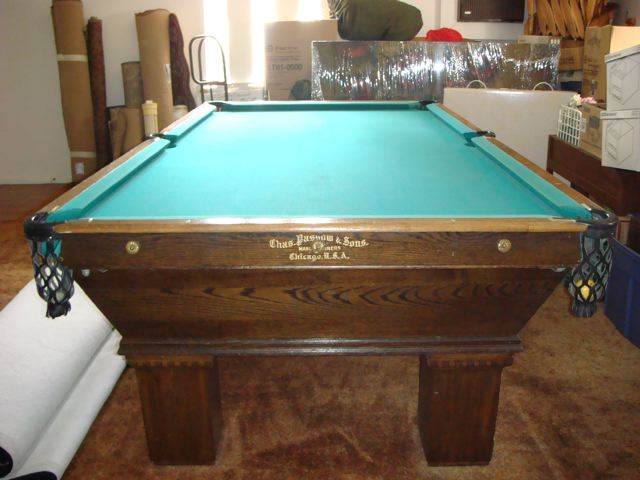 i am selling an antique pool table 100 110 years old fair