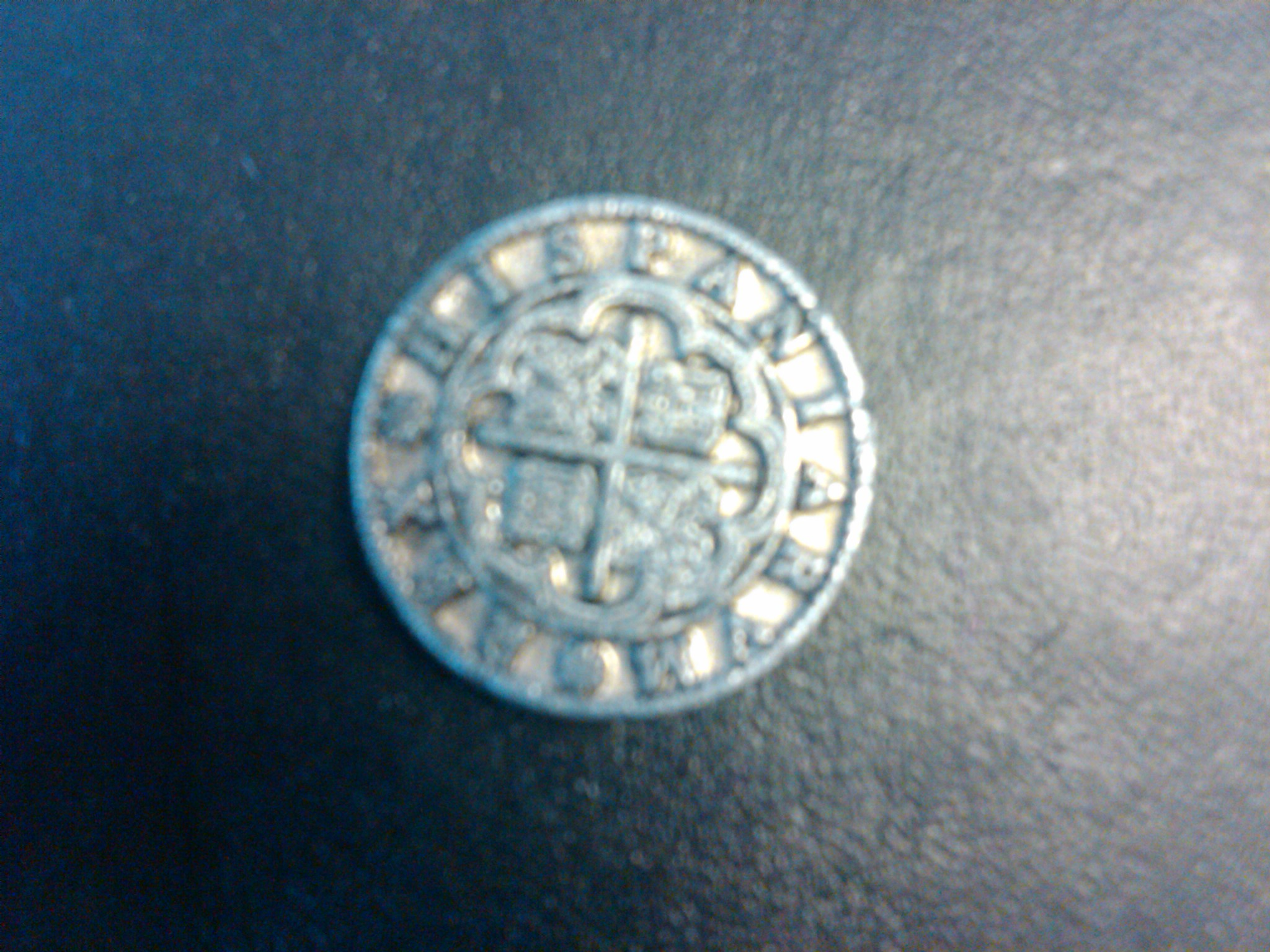 foto de I have a silver Rex Hispaniarvm coin that has no date on the