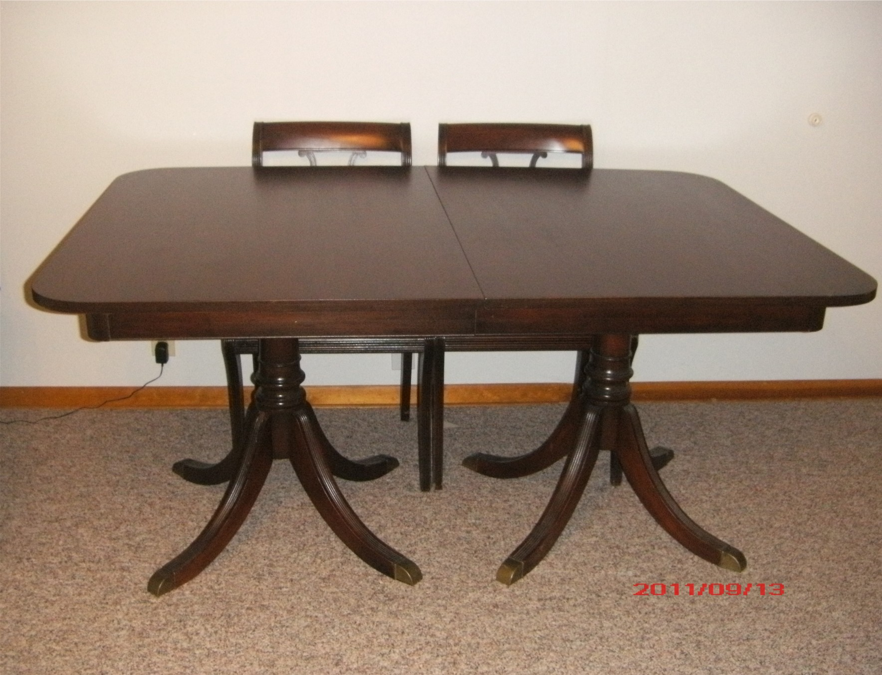 1940s Duncan Phyfe Dining Table