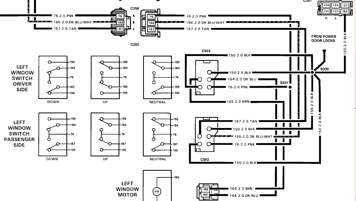89 chevy truck power window wiring diagram
