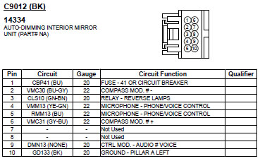 Wiring Diagram For A 2010 Ford Explorer Sync Mirror 10 Piin