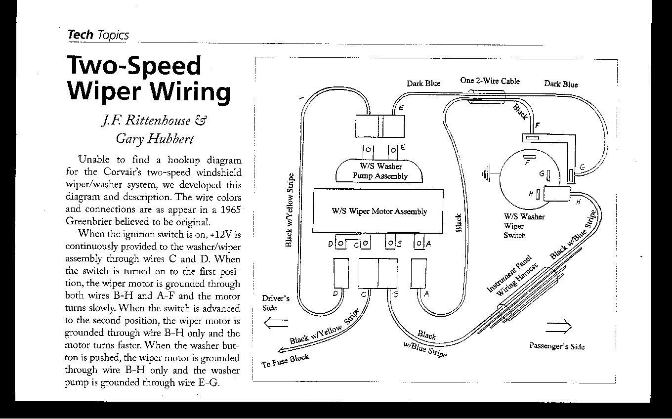Corsa Wiper Motor Wiring W163 Diagram Need Help With Detail For Washer Rh Corvaircenter Com Parking Dodge