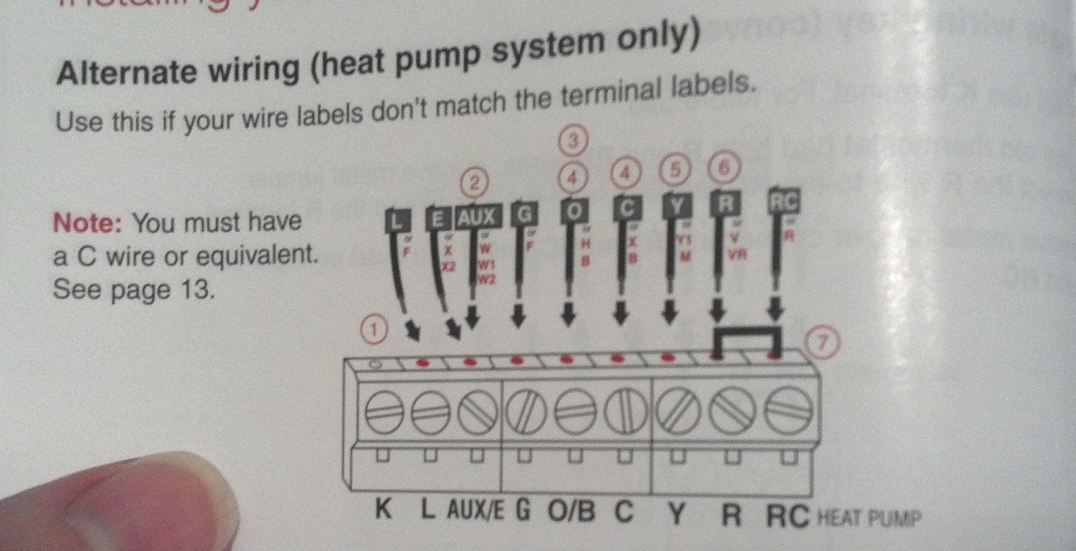 wiring diagram for heat pump system the wiring diagram my exsisting thermostat running my electric heat pump hvac wiring diagram