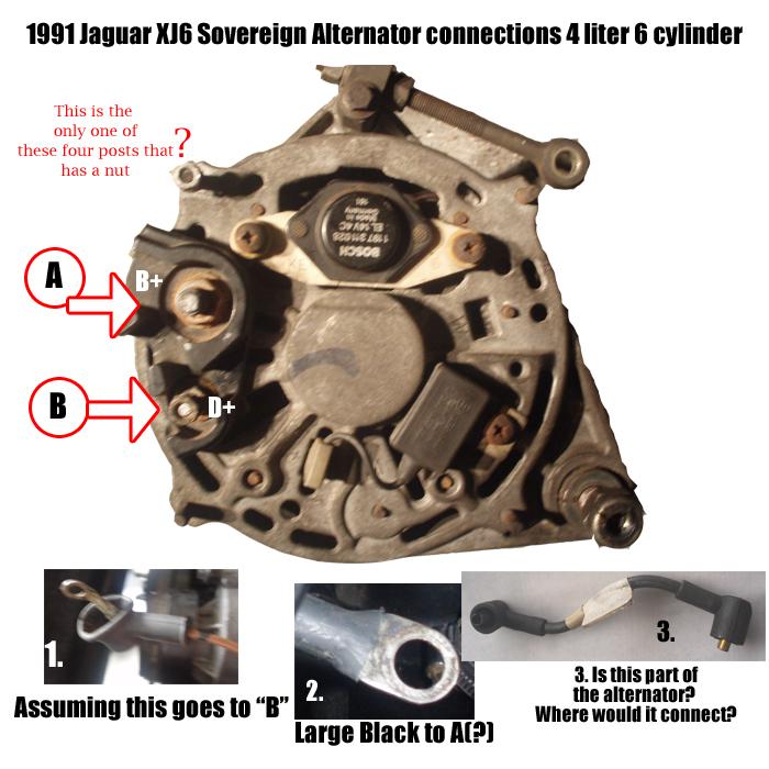 1991 Jaguar Xj6 Sovereign  Wires Go Where On An Alternator