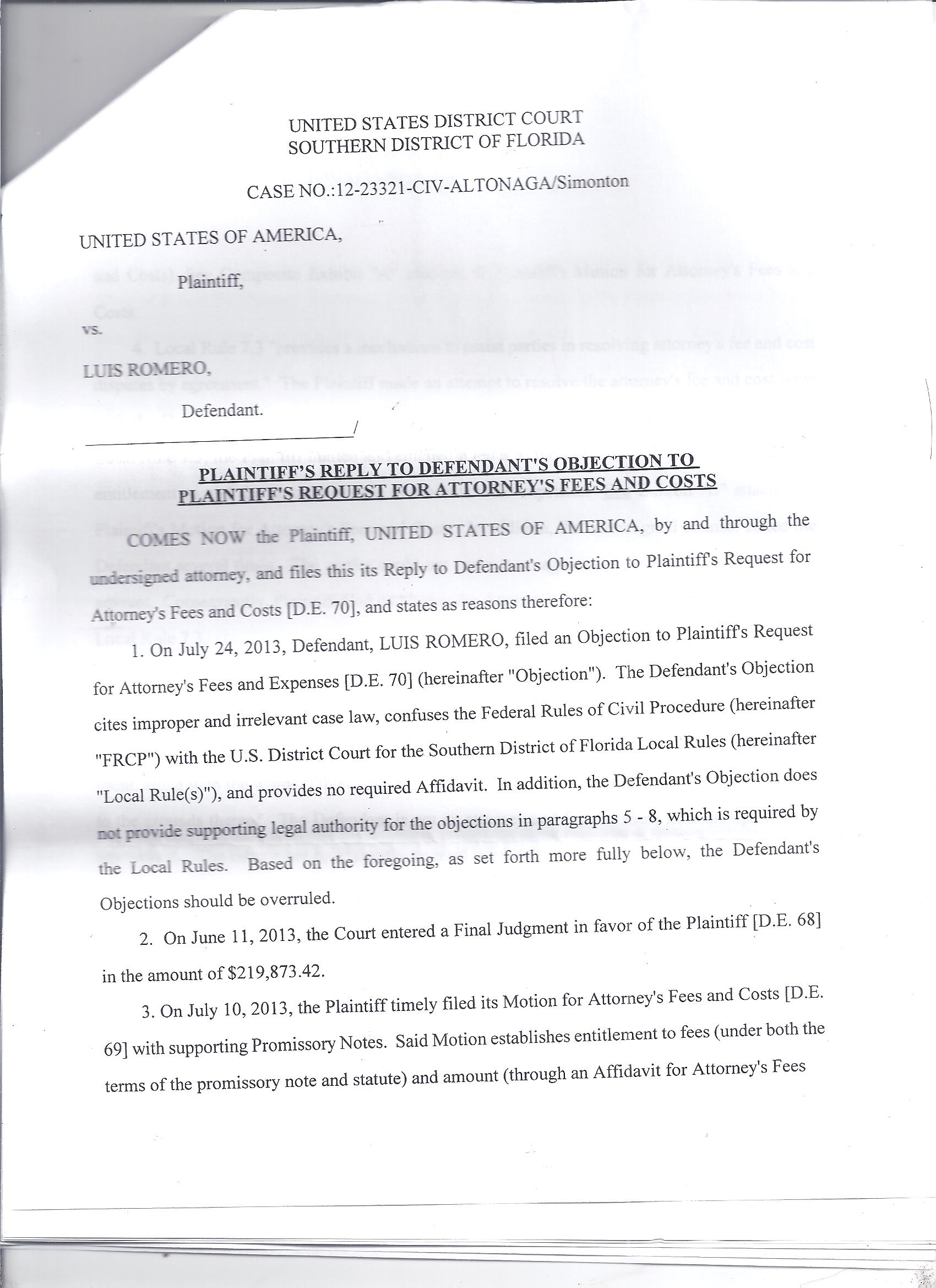 I have been recently sued by the the U.S. gov for a defaulted&qu