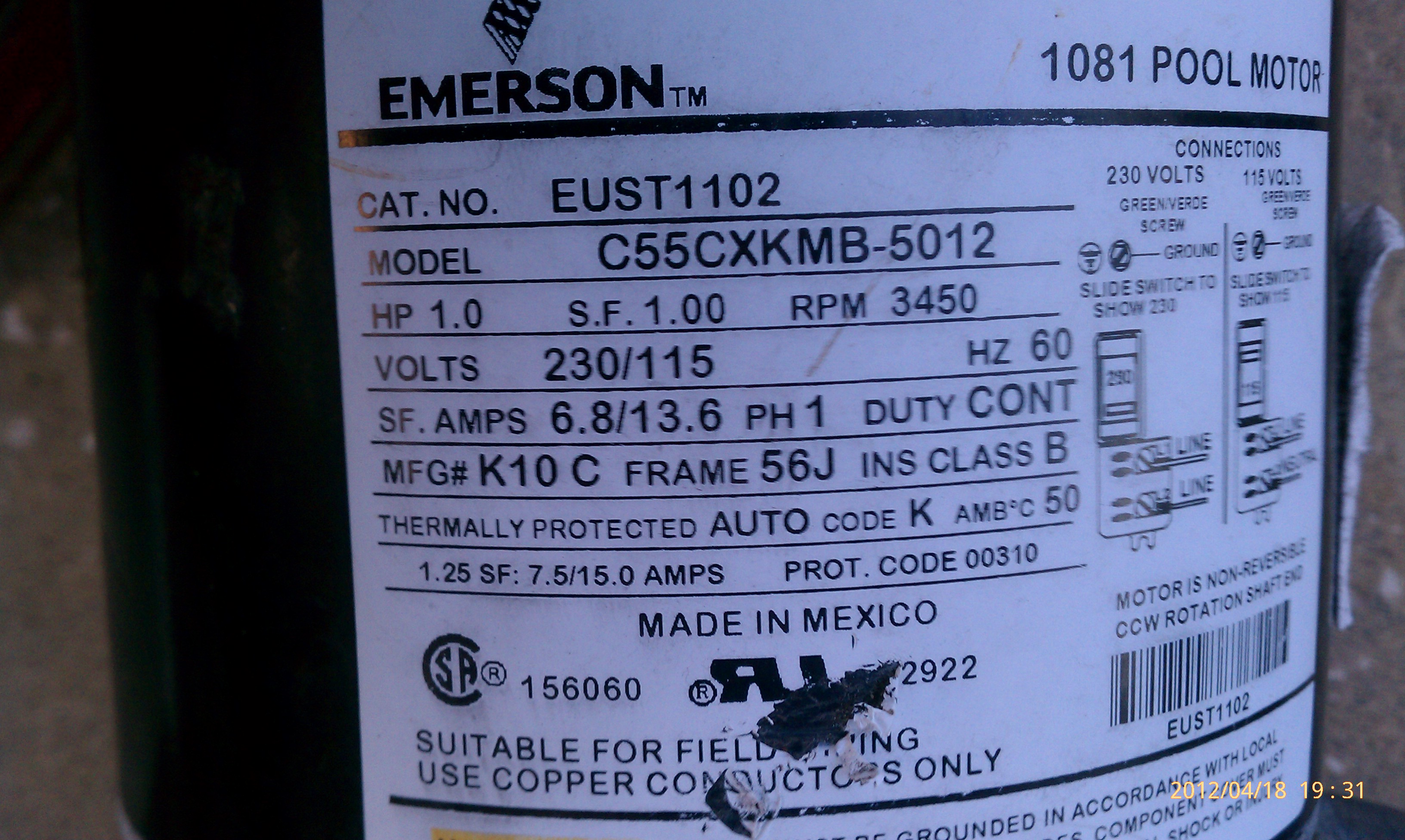 Emerson 1081 Pool Motor Capacitor 28 Images Emerson