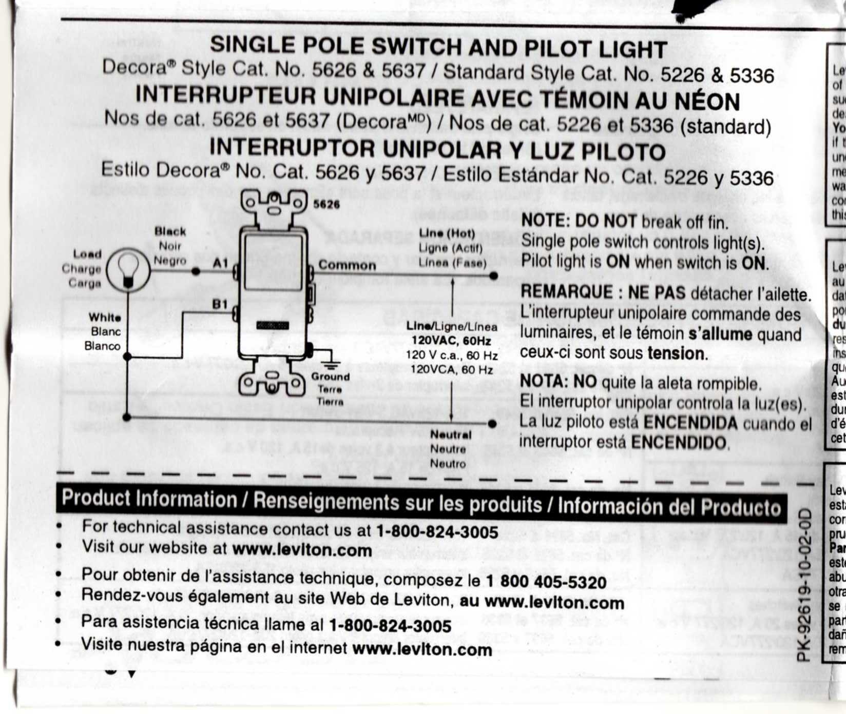 am trying to replace a single pole switch with a pilot light