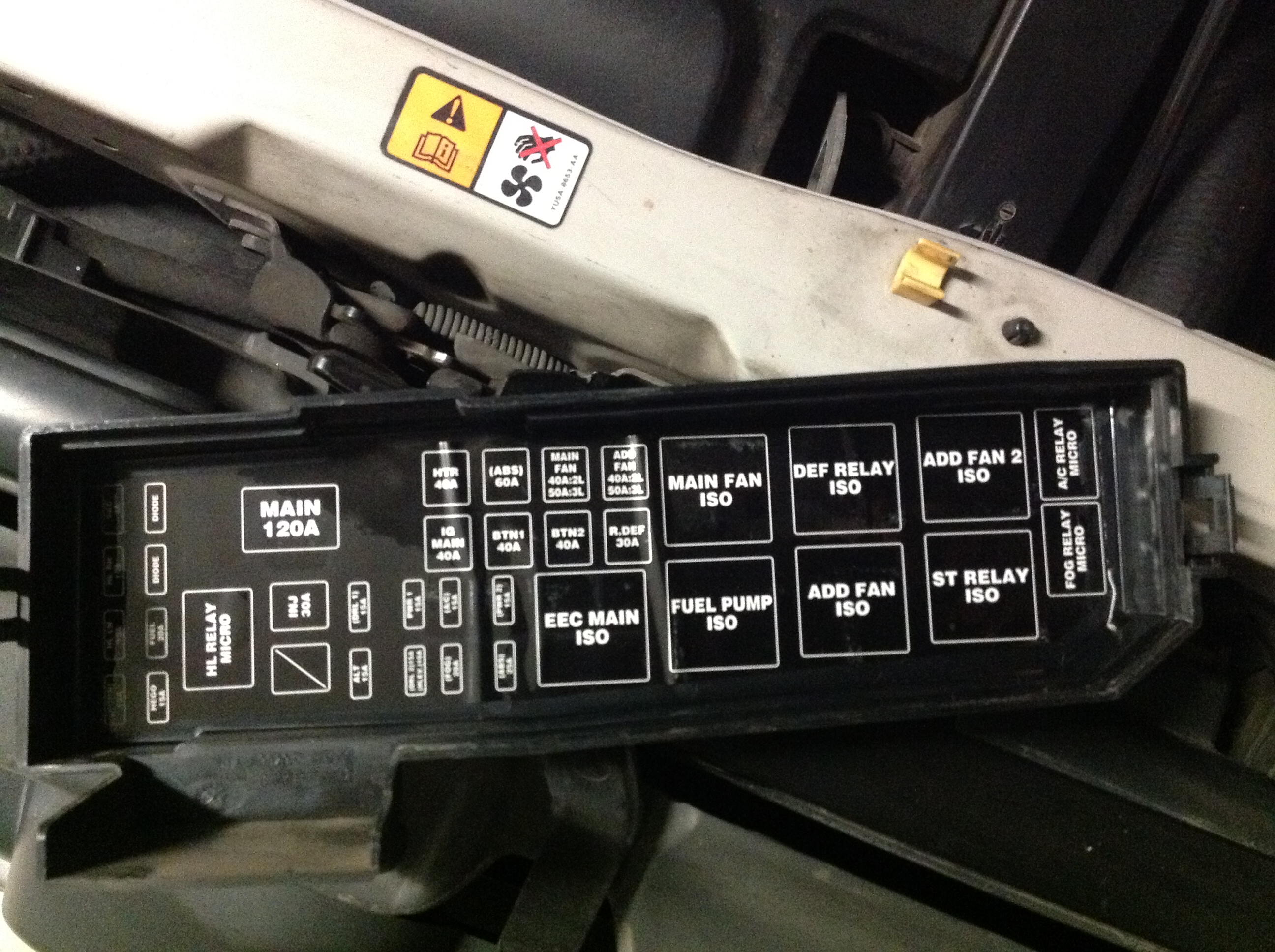 Mazda 3 2011 Fuse Box Location