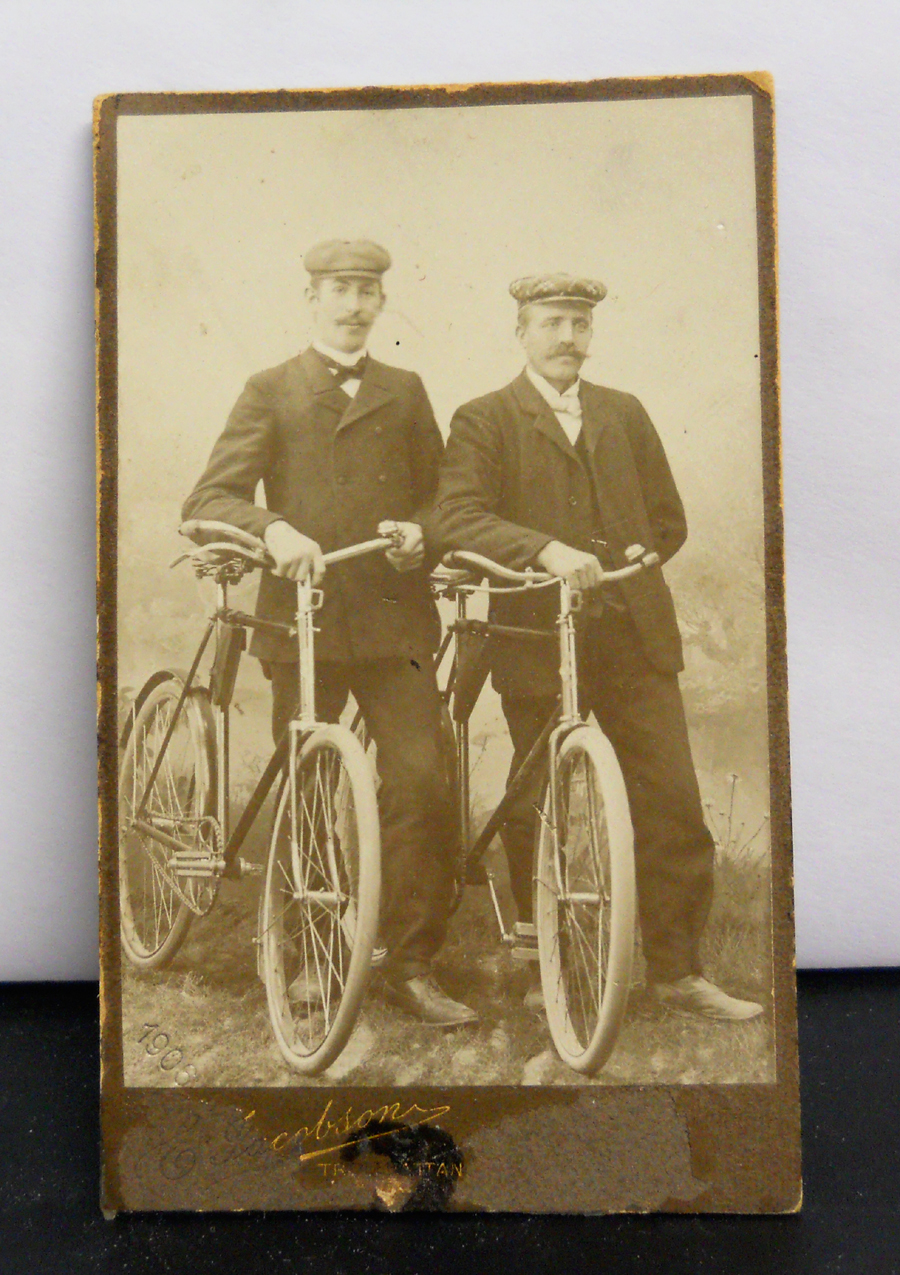 two men and bicycles 1906