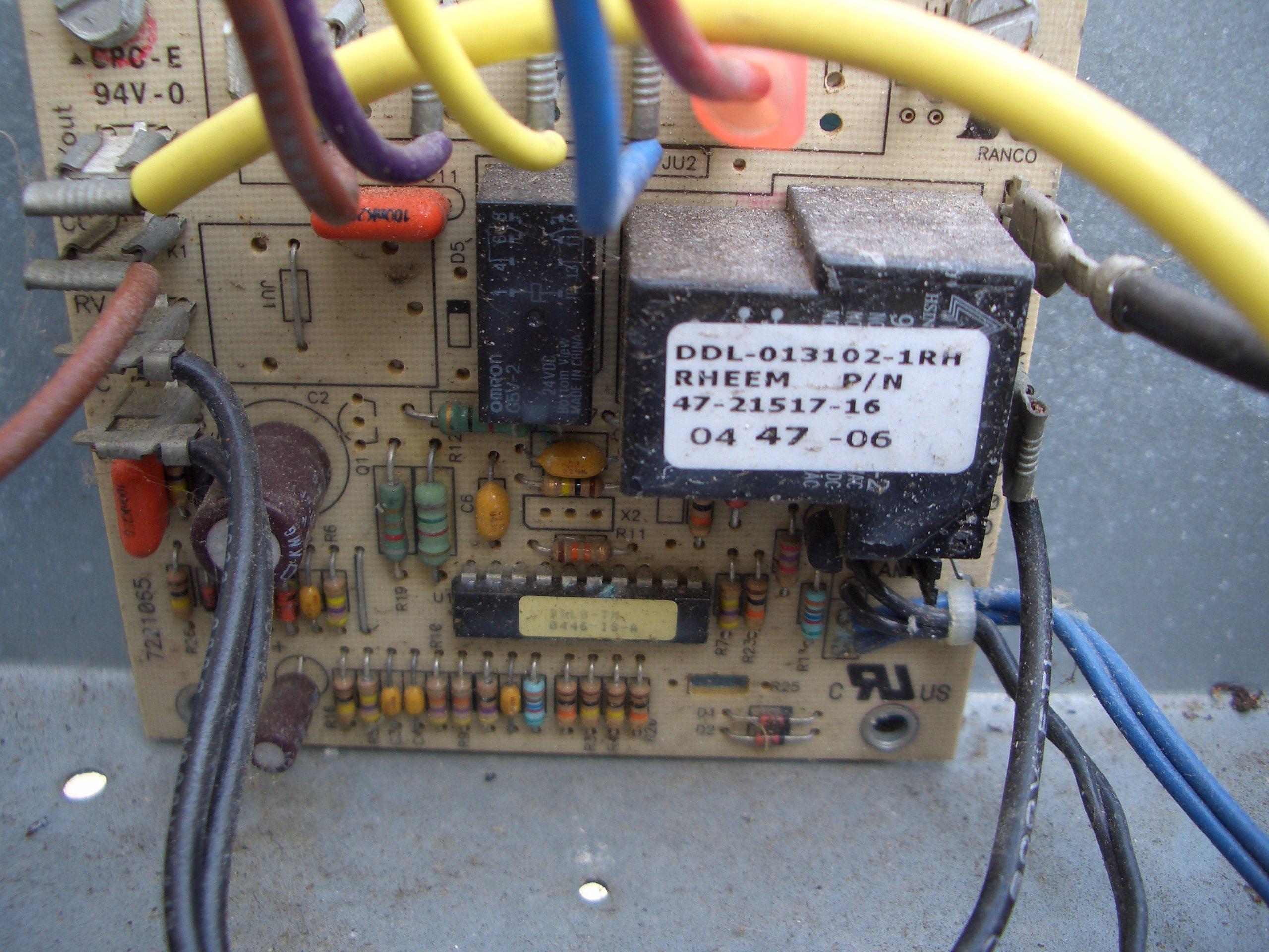 i no defrost cycle on my rheem rbhk 2005 series air