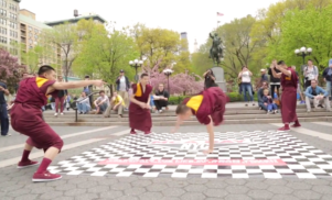 """Ch-check it out: Buddhist monks breakdance in honor of Adam """"MCA"""" Yauch"""