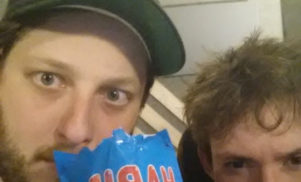 Oneohtrix Point Never and Hudson Mohawke are collaborating. And eating Haribo.