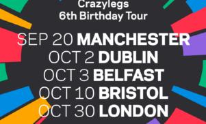 Crazylegs celebrates 6th birthday with tour, shares Gage's weaponized remix of Ziro's 'Coded'