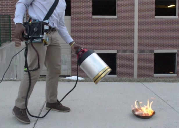 Watch sound waves extinguish fire