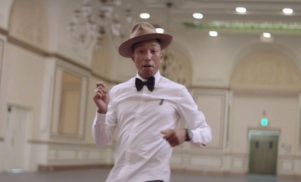Pharrell and the United Nations team for International Happy Day