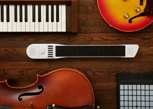 A MIDI controller that can be played like a guitar, piano, violin, drum or bass is funded on Kickstarter