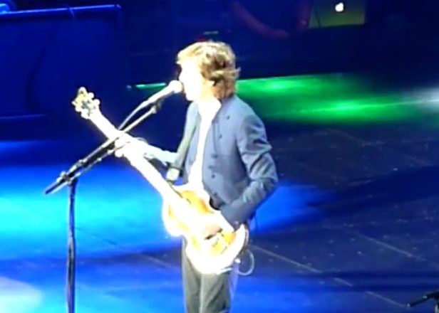 Paul McCartney played his proto-techno tune 'Temporary Secretary' live for the first time last night