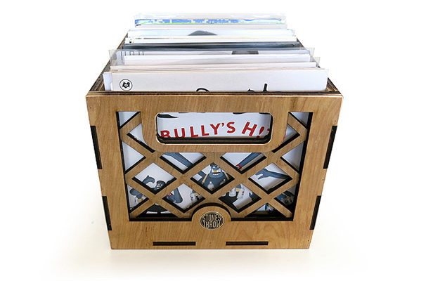 "Store your 7""s in a customised Stones Throw crate"