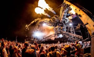 Meet the pyrotechnics crew behind Glastonbury's fire-spitting spiders