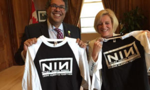 Nine Inch Nails issue cease and desist to Canadian politicians using logo on campaign t-shirts