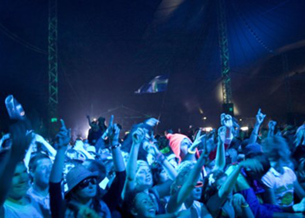 An army of Scottish ravers filled T in the Park's Slam Tent in 30 seconds