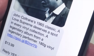 This new vinyl service will text you an album you can buy every day
