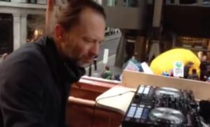 Watch Thom Yorke DJ at People's March for Climate in London