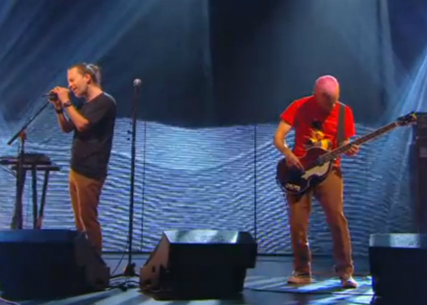 Watch Thom Yorke and Flea perform 'Atoms For Peace'