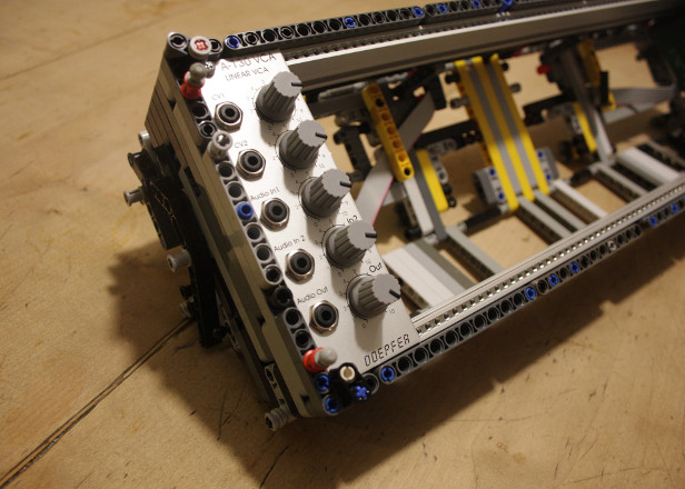 Some genius has made a modular synth case out of Lego