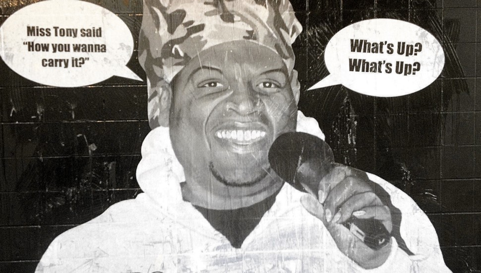 Miss Tony wheatpaste poster